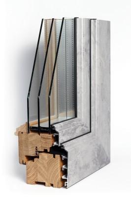 78×82 – wood – aluminium rustic exclusive